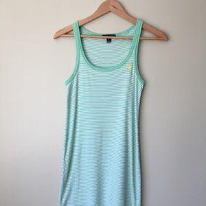 Ralph Lauren Pima Cotton Striped Tank Dress - S